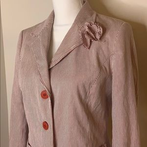 Zara Basic Stripped Blazer Size 4